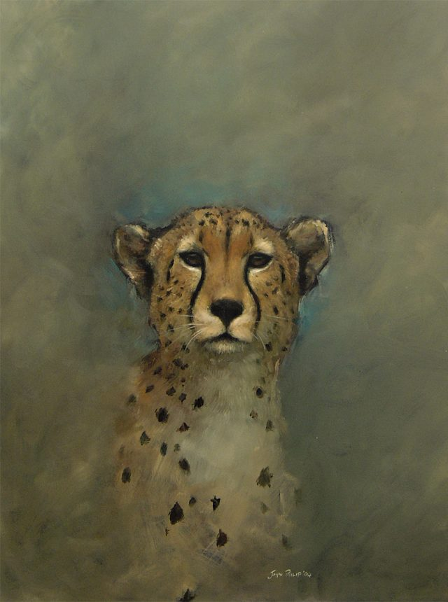 Painting - Portrait of a Cheetah.