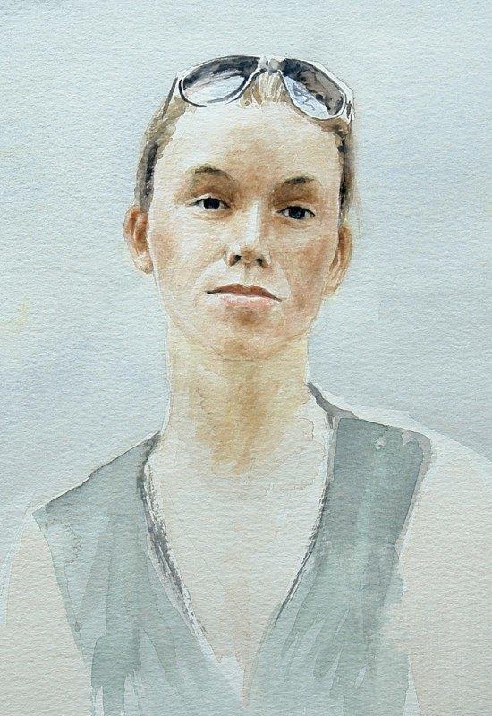 Watercolour Portrait of a girl