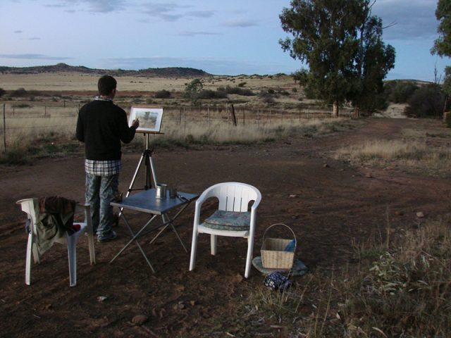 Plein Air Painting with a Camera Tripod Easel