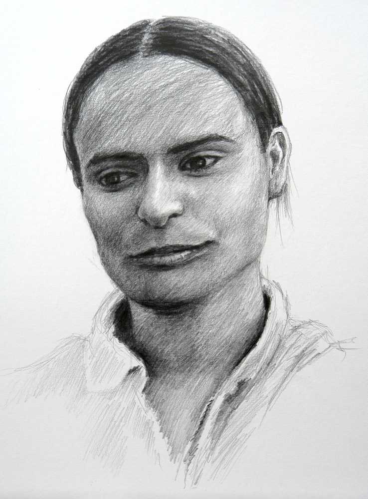 Drawing of a lady from Dhanaula, India
