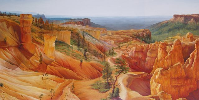 Large Oil painting of Bryce Canyon in Utah