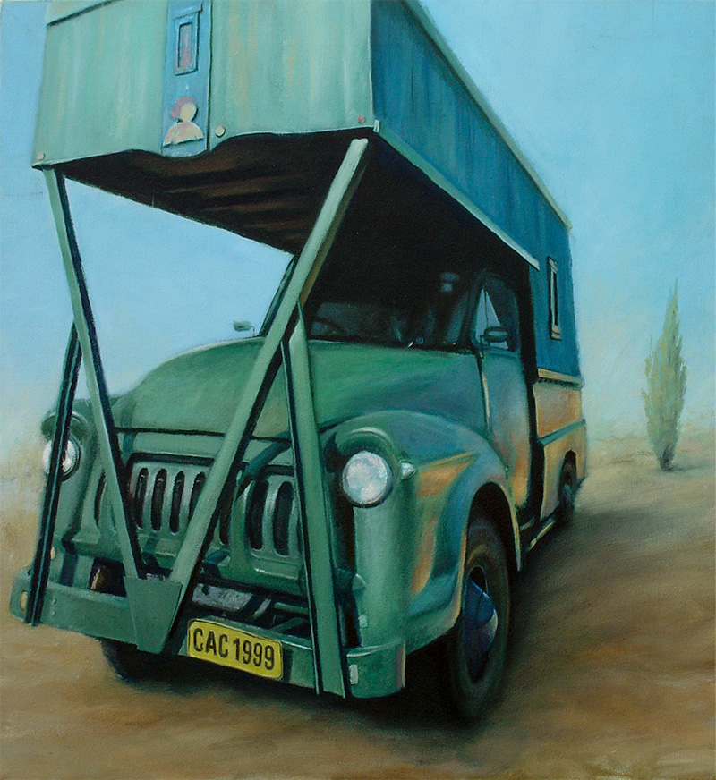 Painting of an Old Bedford Truck