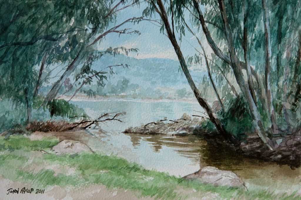 Painting of the Vaal River
