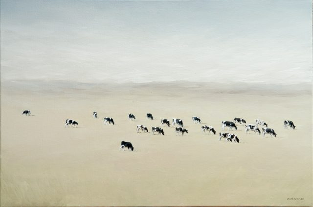 Oil Painting of 22 Cattle