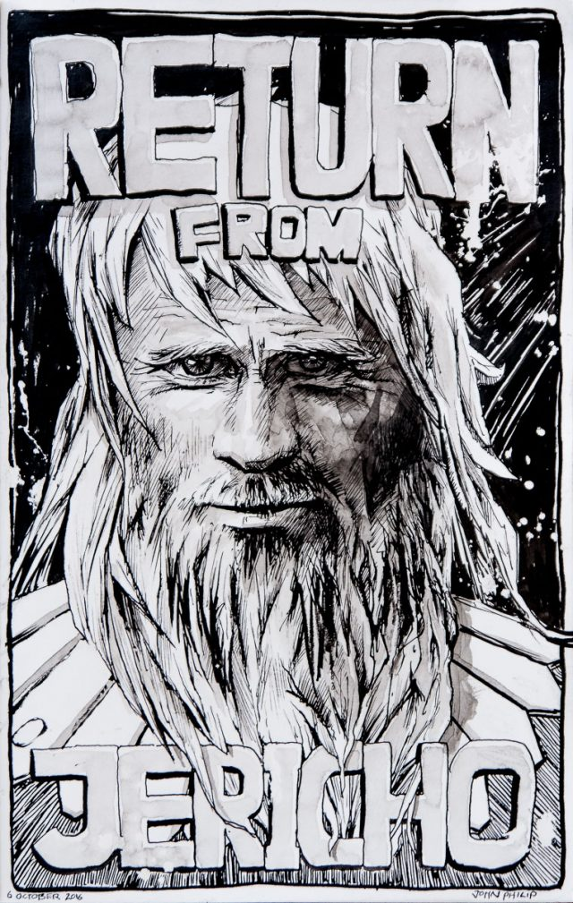 Drawing of a Bearded Man