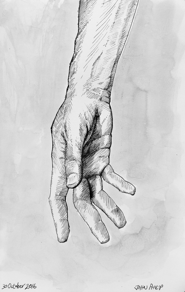 Ink drawing of my Hand