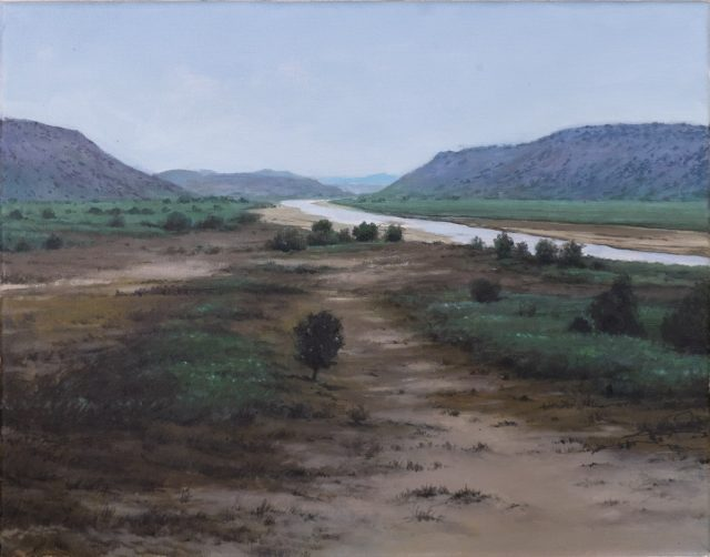 Oil Painting of the Orange River