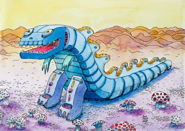 Drawing of a Dinosaur Robot