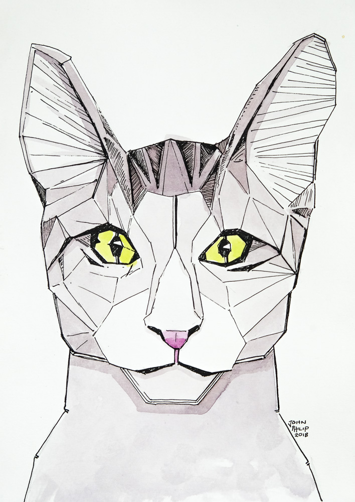 Drawing of a Cat Robot